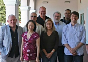 Composers at the Cabrillo Festival of Contemporary Music following a luncheon forum with conducting participants.